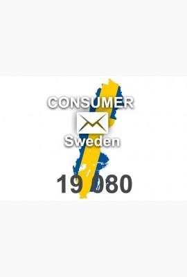 2020 fresh updated Sweden 19 080 Consumer email database