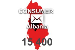 2020 fresh updated Albania 15 400 Consumer email database