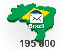 2020 fresh updated Brazil	195000 business email database