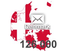 2021 fresh updated Denmark 126000 business email database