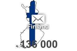 2021 fresh updated Finland 136 000 business email database