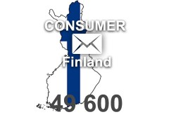 2021 fresh updated Finland 49 600 Consumer email database