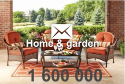 2020 fresh updated home & garden 1 600 000 email database