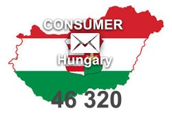 2020 fresh updated Hungary 46 320 Consumer email database