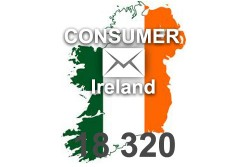 2021 fresh updated Ireland 18 320 Consumer email database