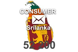 2020 fresh updated Sri Lanka 52 200 Consumer email database