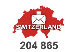 2020 fresh updated Switzerland 204 865 business email database