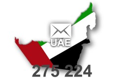 2020 fresh updated UAE 275 224 business email database
