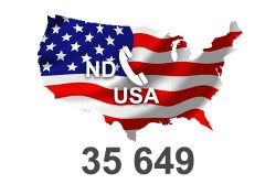 2020 fresh updated USA North Dakota 35 649 Business database
