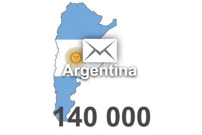 2021 fresh updated Argentina 140 000 business email database