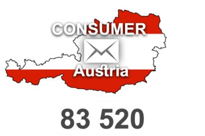 2020 fresh updated Austria 83 520 Consumer email database