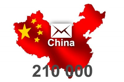 2020 fresh updated China 210 000 business email database