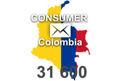 2020 fresh updated Colombia 31 600 Consumer email database