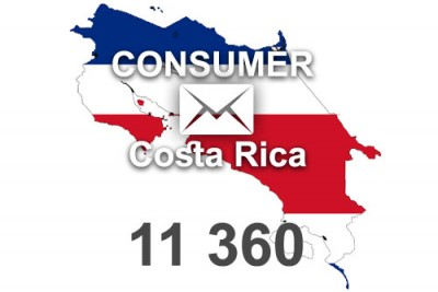 2021 fresh updated Costa Rica 11 360 Consumer email database