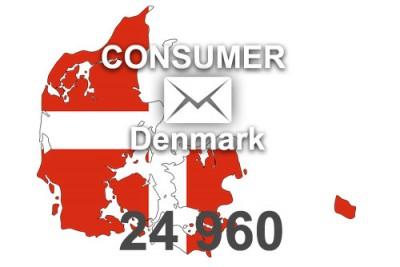 2020 fresh updated Denmark 24 960 Consumer email database