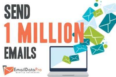 Sending 1 million emails