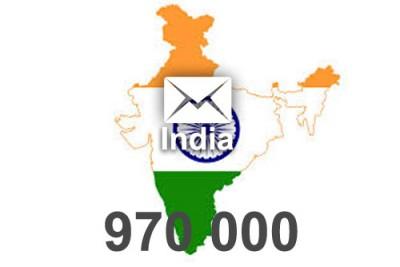 2020 fresh updated India 970 000 Consumer email database