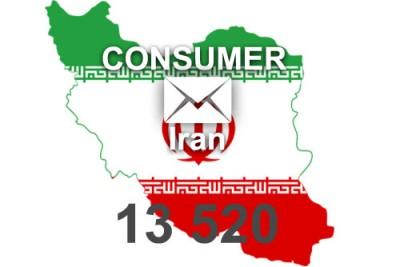 2021 fresh updated Iran 13 520 Consumer email database