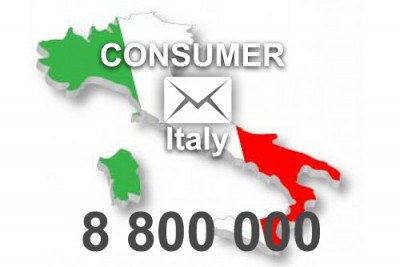 2021 fresh updated Italy 8 800 000 Consumer email database