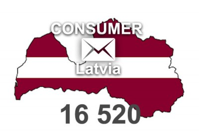 2020 fresh updated Latvia	16 520 Consumer email database