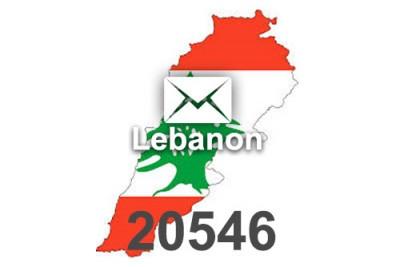 2020 fresh updated Lebanon 20 546 business email database