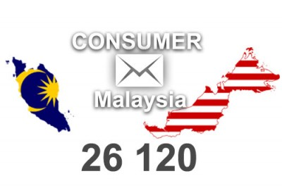 2021 fresh updated Malaysia 26 120 Consumer email database