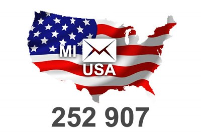 2021 fresh updated USA Michigan 252 907 email database