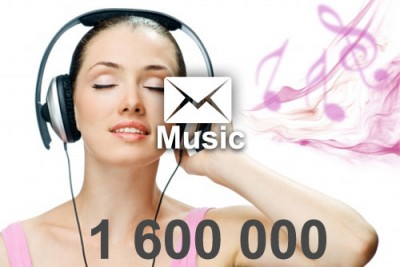 2020 fresh updated music 1 600 000 email database
