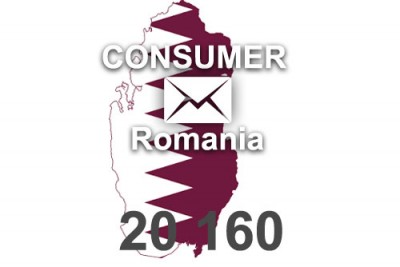 2020 fresh updated Romania 20 160 Consumer email database