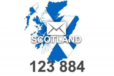 2019 fresh updated Scotland 123 884 business email database