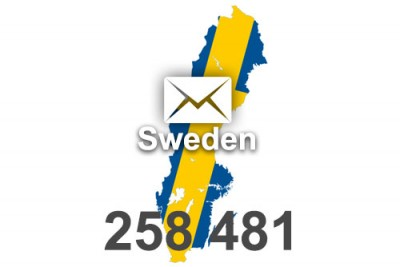 2020 fresh updated Sweden 258 481 business email database