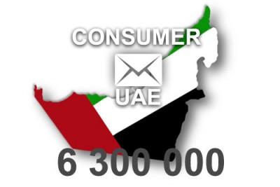 2020 fresh updated UAE 6 300 000 Consumer email database