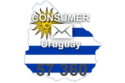 2021 fresh updated Uruguay 57 360 Consumer email database