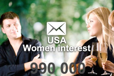 2021 fresh updated USA E-women interest 990 000 email database