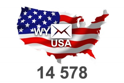 2021 fresh updated USA Wyoming 14 578 email database
